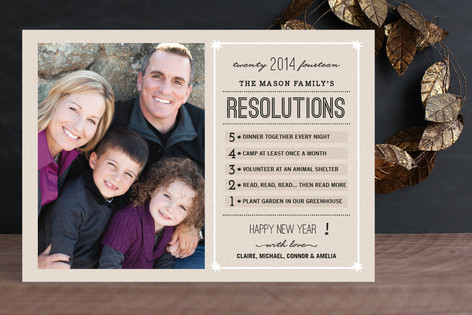 Resolutions Countdown New Year Photo Cards