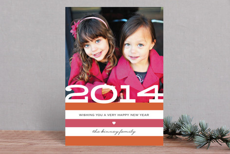 Heartfelt New Year Photo Cards