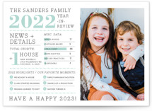 Family Year in Review New Year Photo Cards