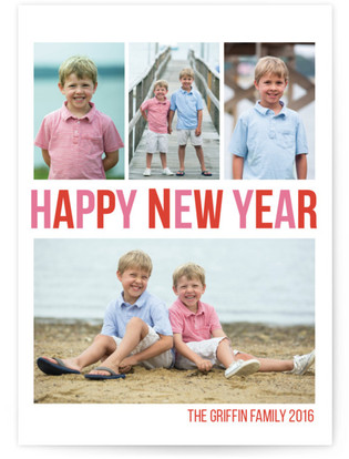 Merry & Bright New Year's Photo Cards