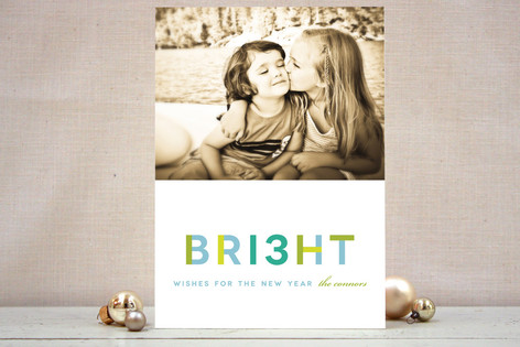 Brilliant Wishes New Year Photo Cards