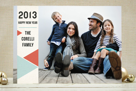 Colorful Angles New Year Photo Cards