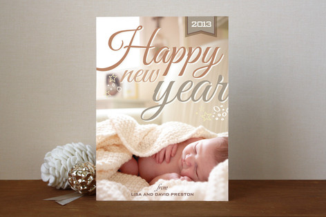Stars and Bubbles New Year Photo Cards