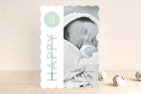 Baby New Year Photo Cards