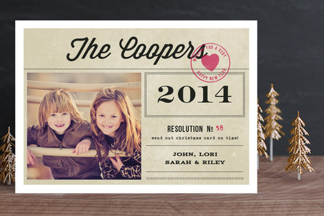The Resolution New Year Photo Cards