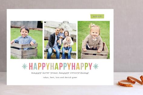 Happy Happy Happy New Year Photo Cards