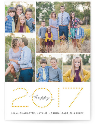 Ticker Tape New Year's Photo Cards