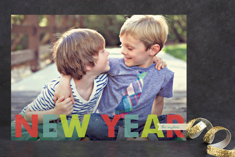 Simple Merry New Year Photo Cards