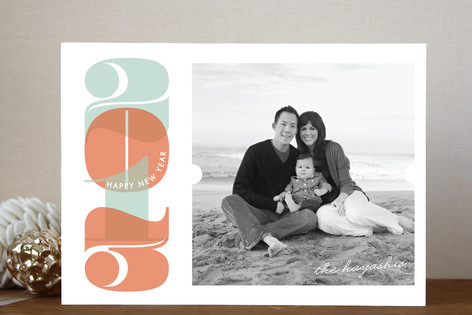 Boldly Numeric New Year Photo Cards