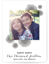 Bursting Poms New Year's Photo Cards