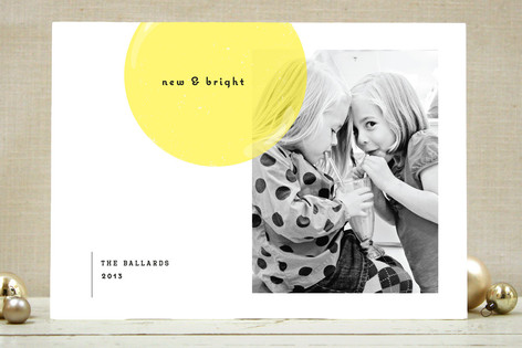 Simply Bright New Year Photo Cards