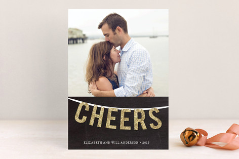 Cheers Garland New Year Photo Cards