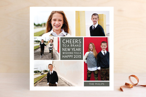 Family Framed New Year Photo Cards