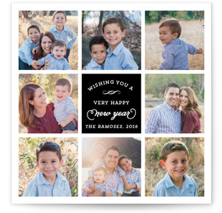New Year's collage New Year's Photo Cards