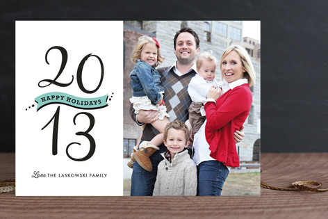 Banner Year New Year Photo Cards