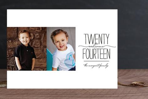 Welcome Twenty-Fourteen New Year Photo Cards