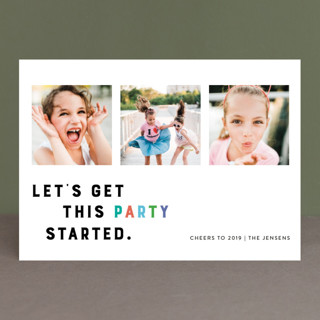 Party Starter New Year Photo Cards