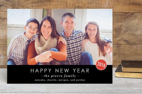 The Basics New Year Photo Cards