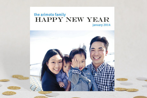 Cool Bop New Year Photo Cards