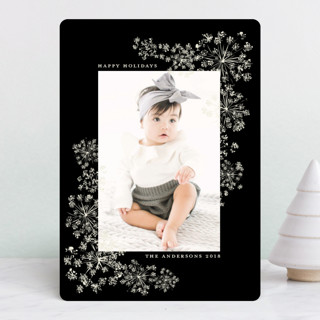 Floral Celebration New Year Photo Cards