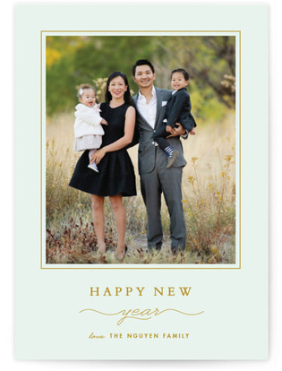Classic New Year's Photo Cards