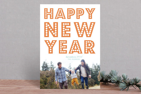 float + peace New Year Photo Cards