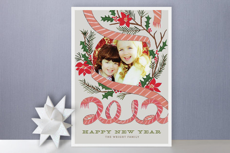 Scarf + Garland New Year Photo Cards