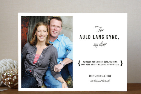 Auld Lang Syne New Year Photo Cards