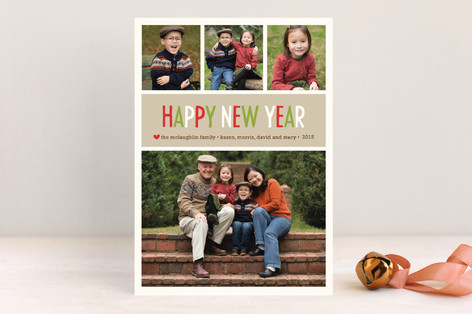 Making Spirits Bright New Year Photo Cards