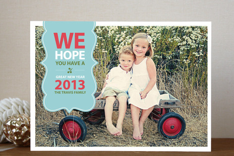 Be Merry Banner New Year Photo Cards