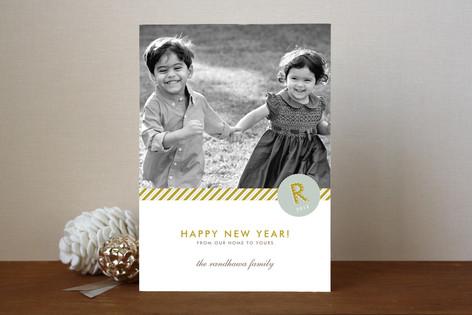 Monogram Prep New Year Photo Cards