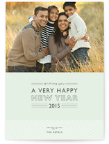 Layered Cake New Year Photo Cards