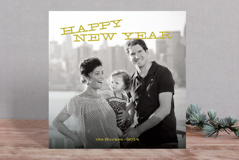 Tilted New Year New Year Photo Cards