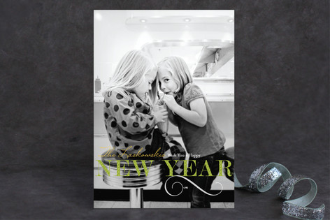 Holiday Dot New Year Photo Cards