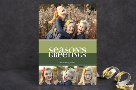 Bold Reflection New Year Photo Cards
