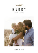 Merry Branch New Year's Photo Cards