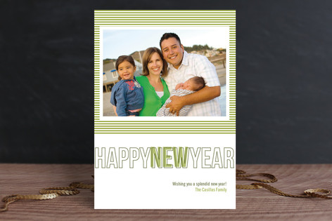 Modern Love New Year Photo Cards