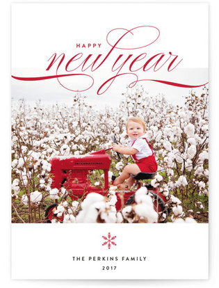 Tailor Made New Year's Photo Cards