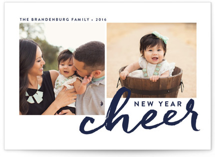 Fizzy New Year's Photo Cards