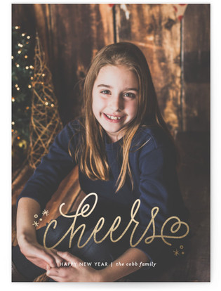 Simple Simplicity New Year's Photo Cards