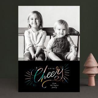 Cheers glow New Year Photo Cards