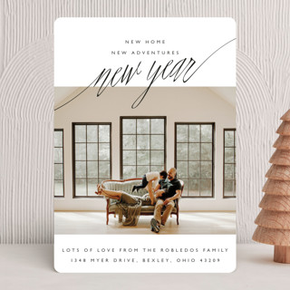 New Adventures New Year Photo Cards