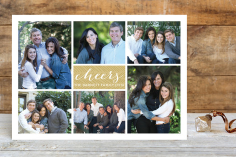 Classic Grid New Year Photo Cards