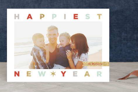 Festive Letters New Year Photo Cards