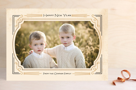 Foxtrot Frame New Year Photo Cards