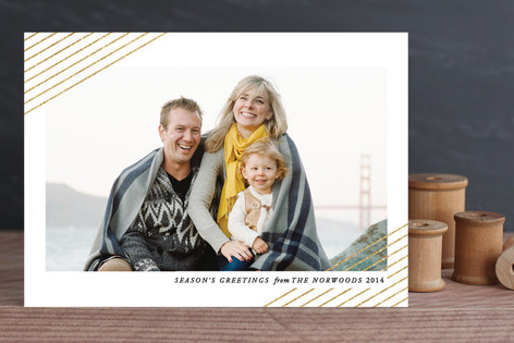 Modern Shimmer New Year Photo Cards