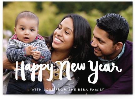 Hand Painted Happy New Year's Photo Cards