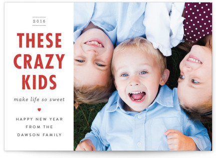 These Crazy Kids... New Year's Photo Cards