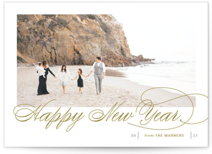 Fresh Christmas Wishes New Year's Photo Cards