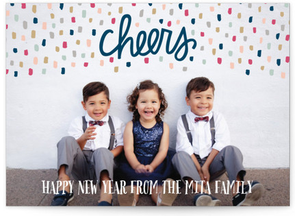 Confetti Whimsy New Year's Photo Cards